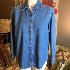 Gap Denim Button Front Shirt XS